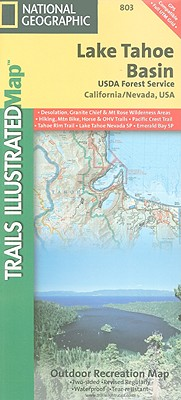 National Geographic Trails Illustrated Map Lake Tahoe Basin